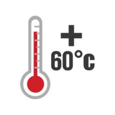 Temperatura maxima de hasta 60 grados celsius
